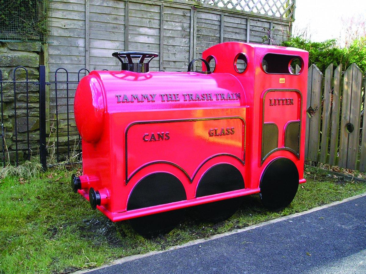Tammy The Trash Train Recycling Litter Bin 183 David Ogilvie
